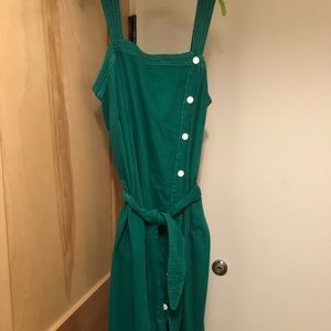NWT Maeve for Anthro kelly green denim jumper, 22W